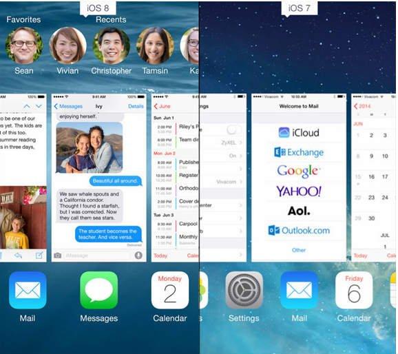 Отключаем отображение контактов в панели многозадачности iOS 8 2
