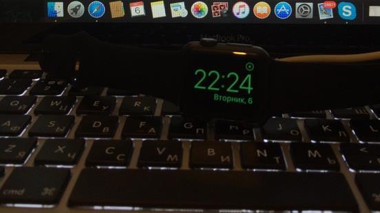 Использование Apple Watch в «Ночном режиме»
